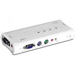 TRENDnet 4-Port PS/2 KVM Switch Kit w/Audio   Bild0