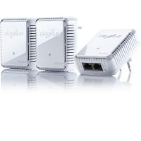 devolo dLAN 500 duo Network Kit (500Mbit, 3er Kit, Powerline, 2xLAN, Netzwerk)