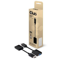 Club 3D DisplayPort auf VGA Aktiver Adapter Kabel schwarz CAC-1002 Bild0