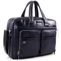 "Piquadro Blue Square Aktentasche mit 16"" Notebookfach blau"