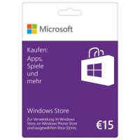 Windows Store Guthabenkarte 15 Euro
