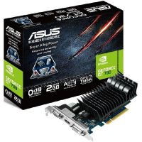 Asus GeForce GT 730-SL-2GD3-BRK 2GB GDDR3 PCIe DVI/HDMI/VGA Low Profile passiv