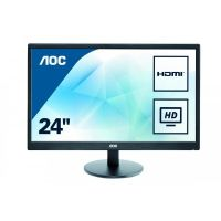 "AOC e2470Swhe 59,9 cm (24"") 16:9 Full HD Monitor VGA/2xHDMI 5ms"