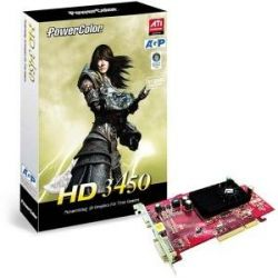 Powercolor AMD Radeon HD 3450 512 MB DDR2 AGP Grafikkarte TV/VGA/DVI  Bild0