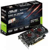 Asus GeForce GTX 750Ti STRIX OC Direct CUII 2GB GDDR5  DVI/HDMI/DP Grafikkarte