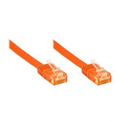 Good Connections Patchkabel Cat. 6 ungeschirmt Flachkabel orange 5,0m Bild0