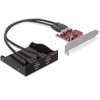 DeLOCK PCI Express Card Karte mit USB 3.0 Front Panel 2-Port