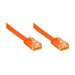 Good Connections Patchkabel Cat. 6 ungeschirmt Flachkabel orange 10m Bild0