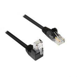 Good Connections Patchkabel Cat. 5e RJ45 Winkelstecker & 1x gerade schwarz 15m Bild0
