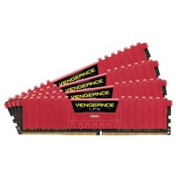 16GB (4x4GB) Corsair Vengeance LPX DDR4-2800 CL16 (16-18-18-36) DIMM-Kit Rot Bild0