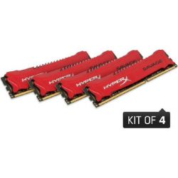 32GB (4x8GB) HyperX Savage rot DDR3-1866 CL9 RAM Kit Bild0