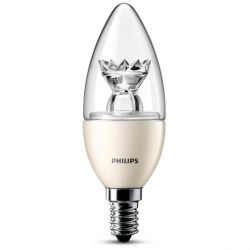 Philips LED-Kerze 6W (40W) E14 klar warmweiß dimmbar Bild0