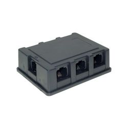 Good Connections ISDN Verteilerbox 3m 1x RJ45 zu 6x RJ45 Adapter schwarz Bild0
