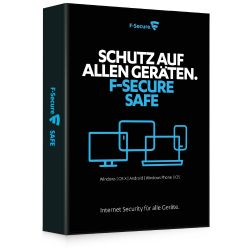 F-Secure SAFE - 3 Einheiten für PC, MAC, iPhone, Android/Windows Phones, Tablets Bild0