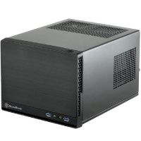 SilverStone SUGO SG13B-Q Mini Tower ITX Gehäuse USB3.0 black