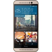 HTC One M9 gold on silver Android Smartphone