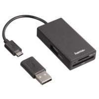 Hama USB2.0 OTG Card Reader/ Hub PC/Notebook/Tablet/Smartphone