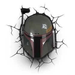 Star Wars 3D Boba Fett Light Wandlampe Bild0