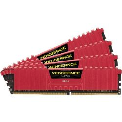 16GB (4x4GB) Corsair Vengeance LPX Red DDR4-3000 RAM CL15 (15-17-17-35) Bild0