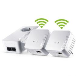 devolo dLAN 550 WiFi Network Kit (500Mbit, 3er Kit, Powerline + WLAN, 1xLAN) Bild0