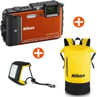 Nikon Coolpix AW130 Unterwasserkamera orange Diving Kit