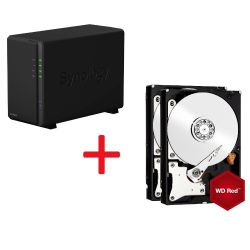 Synology Diskstation DS216play NAS 2-Bay 4TB inkl. 2x 2TB WD RED WD20EFRX Bild0