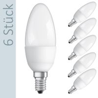 Osram LED Star Classic B40 Kerze 6W (40W) E14 matt warmweiß (6er Pack)