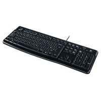 Logitech Keyboard K120 UK Layout USB schwarz Bulk