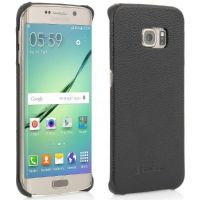 StilGut Leder Backcover für Samsung Galaxy S6 edge schwarz
