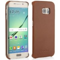 StilGut Leder Backcover für Samsung Galaxy S6 edge cognac