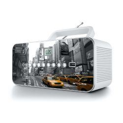 Muse M-28 NY CD-Radio mit FM/MW PLL Tuner  CD MP3 USB- New York Design Bild0