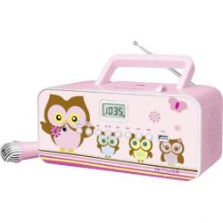 Muse M-29 KB Kinder CD-Radio mit FM/MW PLL Tuner  CD MP3 Mikrofon - Kids Pink Bild0