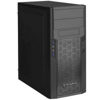 SilverStone Precision Series PS13B Midi Tower ATX Gehäuse in schwarz