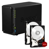 Synology Diskstation DS216 NAS System 4TB inkl. 2x 2TB WD RED WD20EFRX