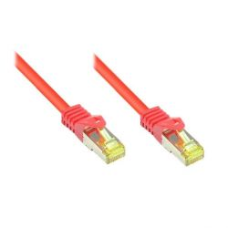 Good Connections Patchkabel mit Cat. 7 Rohkabel S/FTP 0,15m rot Bild0