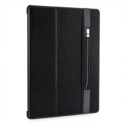 Stilgut Ultraslim Leder Bookcover m Pencil-Halter f. Apple iPad Pro 12,9 schwarz Bild0