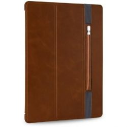 Stilgut Ultraslim Leder Bookcover m Pencil-Halter f. Apple iPad Pro 12,9 cognac Bild0