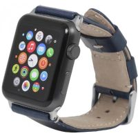 StilGut Echtlederarmband für Apple Watch 42mm blau