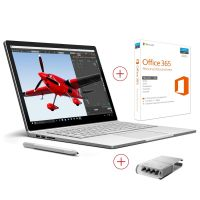 Microsoft Surface Book Core i5 256 GB 8 GB RAM NVIDIA GPU Win 10 Pro inkl. Office 365 Personal (1 Jahr) und Surface Pen Tip Kit