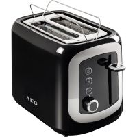 AEG AT 3300 Automatic Toaster Perfect Morning Schwarz Silber