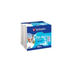 Verbatim 52x CD-R AZO Wide Printable 80Min 700MB 20er Slim Bild0