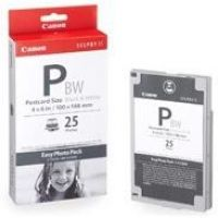 Canon 1251B001AA E-P25BW Easy Photo Pack Tinten-/Papiersatz Selphy 100 x 148mm