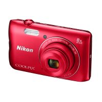 Nikon COOLPIX A300 Digitalkamera rot ornament