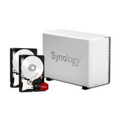 Synology Diskstation DS216j NAS System 8TB inkl. 2x 4TB WD RED WD40EFRX Bild0