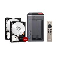 QNAP TS-251+ NAS System (2GB RAM) 4TB inkl. 2x 2TB WD RED WD20EFRX