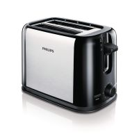 Philips HD2586/20 Daily Collection Toaster schwarz silber
