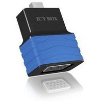 RaidSonic Icy Box IB-AC505 Mini DisplayPort zu VGA Adapter schwarz blau 70531