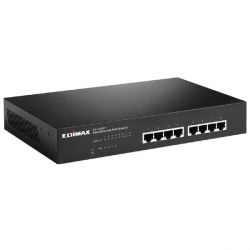 Edimax 8-Port Fast Ethernet Desktop Switch mit 4x PoE+ Ports 80W ES-1008PH Bild0