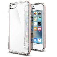 Spigen Bumper-Case Neo Hybrid Crystal für Apple iPhone SE/5/5s roségold