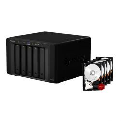 Synology Diskstation DS1515+ NAS 5-Bay 40TB inkl. 5x 8TB WD RED WD80EFZX Bild0